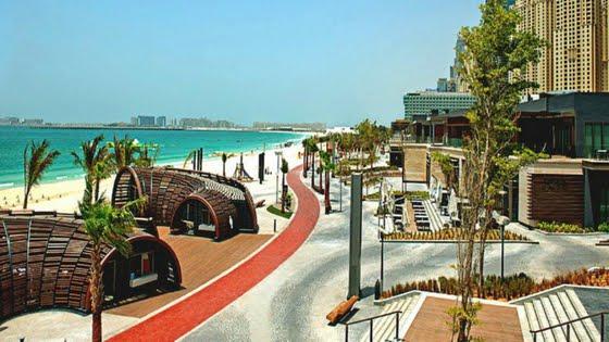 Jumeirah Beach Walk in Dubai