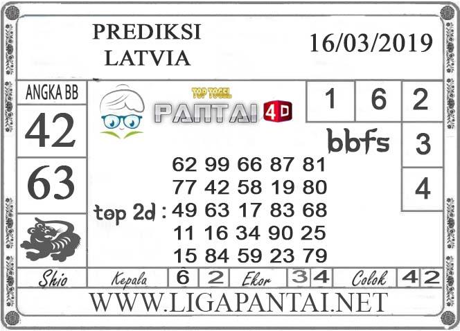 """Prediksi Togel """"LATVIA"""" PANTAI4D 16 MARET 2019"""