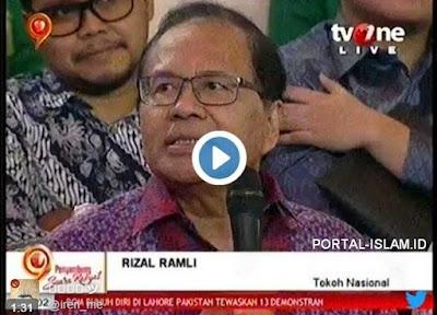 Rizal Ramli: Bangsa Ini Yang Bikin Kacau Cuma 1-2 Orang, Sikat Saja Yang Bikin Kacau