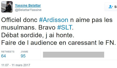 Yassine Belattar exprime son opinion sur SLT par un tweet