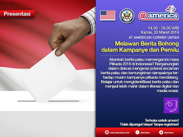 Amcor Untan Mengikuti Diskusi Melawan Berita Bohong dalam Kampanye Pemilu