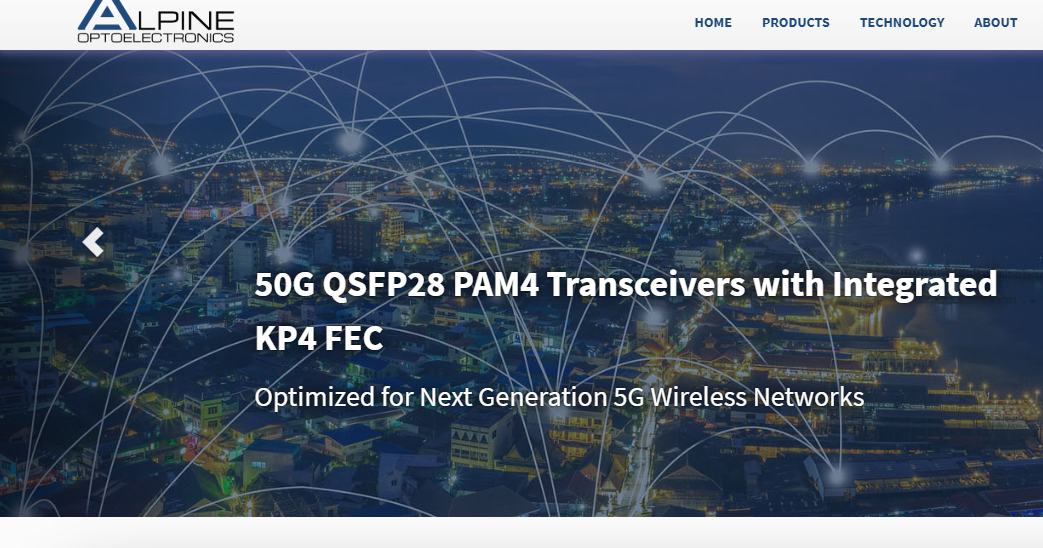Converge! Network Digest: Alpine Optoelectronics demos Low