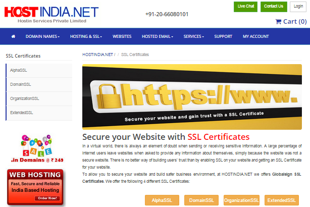 SSL Cerification Service In India
