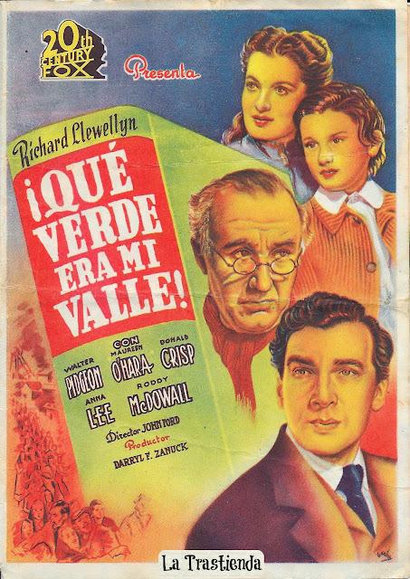 Programa de Cine - ¡Qué Verde era mi Valle! - Maureen O'Hara - Walter Pidgeon
