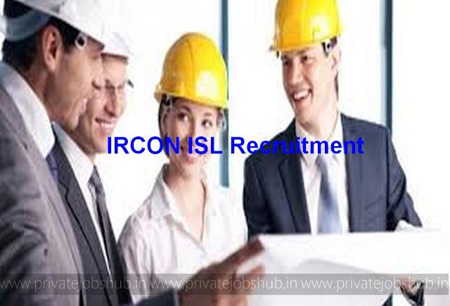 IRCON ISL Recruitment