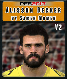 PES 2017 Faces Alisson Becker by Sameh Momen