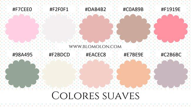 colores suaves