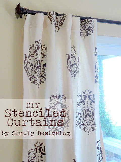 Curtains01a DIY Stenciled Curtains and a {GIVEAWAY} from Cutting Edge Stencils 33