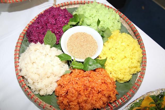 Five-color sticky rice 1