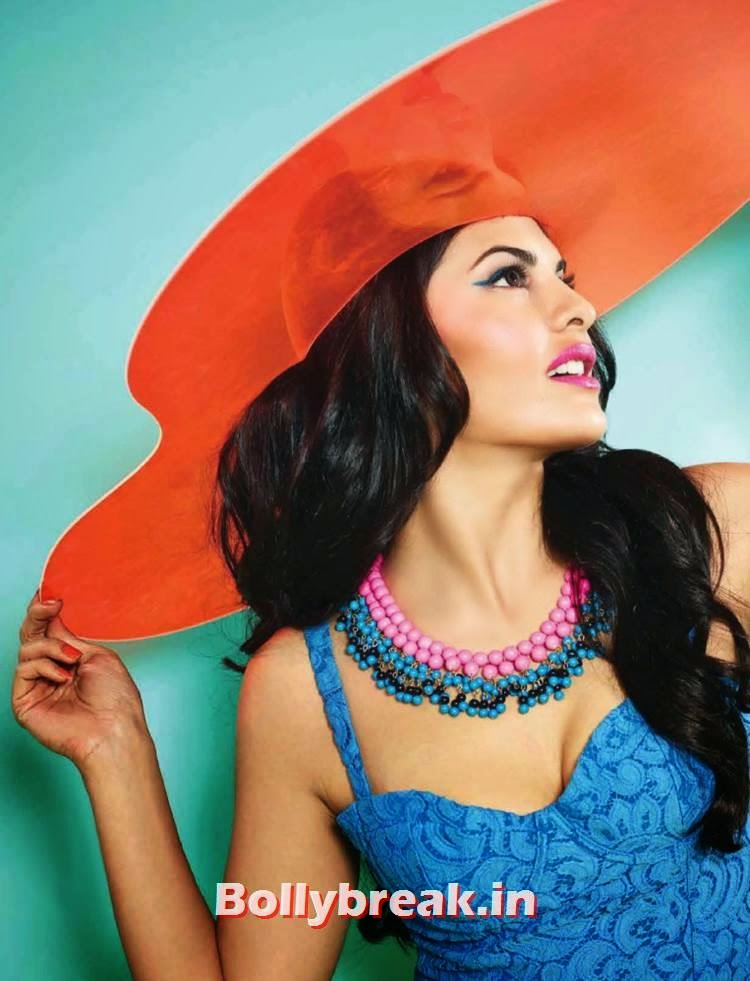 , Jacqueline Fernandez Verve India Scans in Candy Colors
