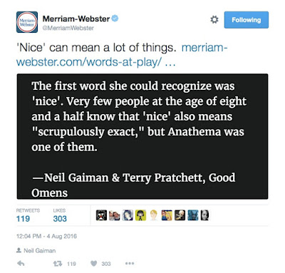Merriam-Webster tweet