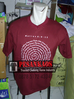 kaos oblong cotton combed