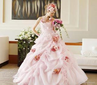 Bruidsjurk oud roze