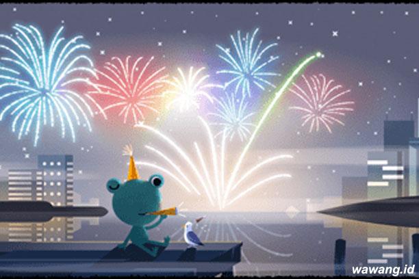 Google Doodle Tahun Baru 2020