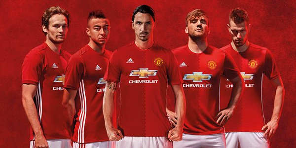 99326b20977 Manchester United have launched their new home and away kits for 2016 17