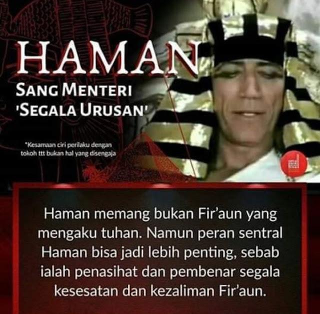 Mengenal Sosok Haman, Menteri Segala Urusan di Zaman Fir'aun