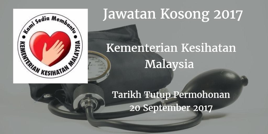 Jawatan Kosong KKM 20 September 2017