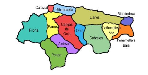 Mapa De Asturias Concejos.Asturias Asturias 78 Concejos 78 Capitales De Concejo
