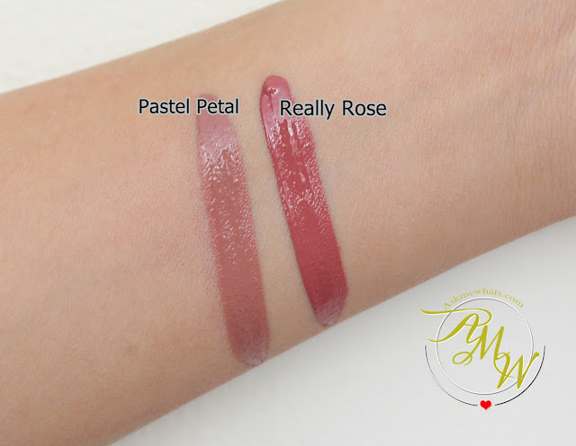 a swatch photo of Pixi By Petra MatteLast Liquid Lip Pastel Petal and Really Rose