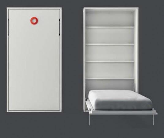cama plegable lagrama con estantes interiores