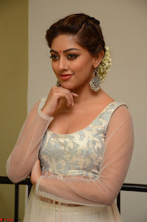 Anu Emmanuel in a Transparent White Choli Cream Ghagra Stunning Pics 098.JPG