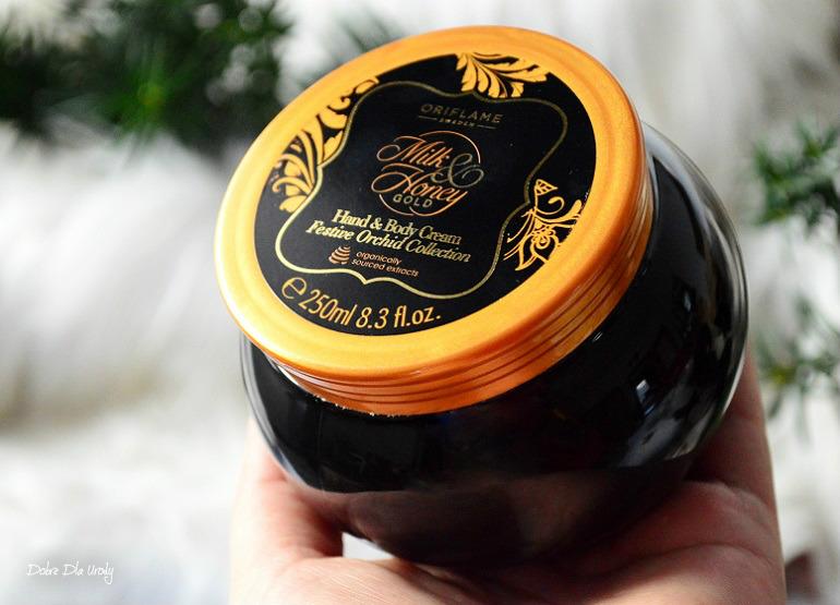 Oriflame Krem do rąk i ciała Milk & Honey Gold Festive Orchid recenzja