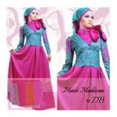 Model Pakaian Muslim Bahan Brokat Modern Terbaru