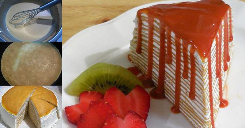แจกสูตรเครปเค้ก(Crape Cake)ชาไทย