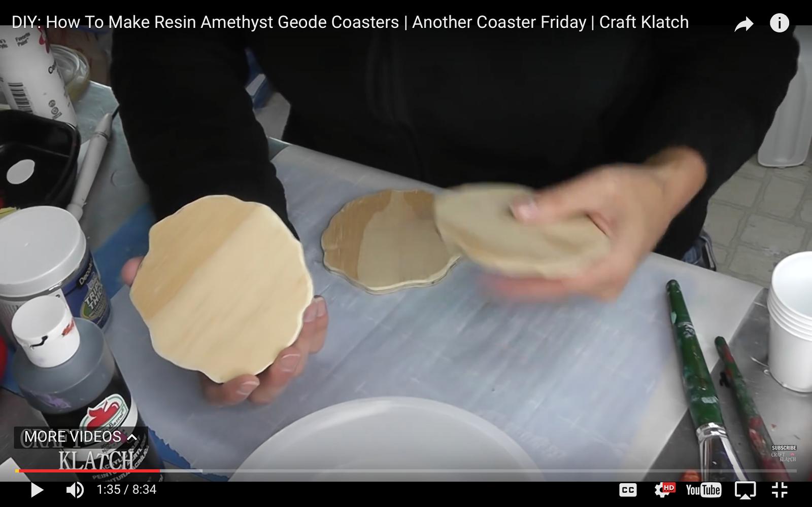 Craft Klatch 174 Diy How To Make Resin Geode Coasters