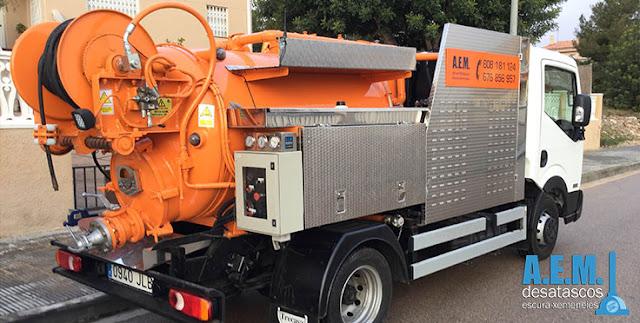 camiones cuba para desatascar tuberías Tarragona