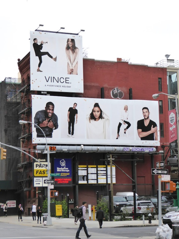 Giant Vince Holidays 2015 billboards NYC