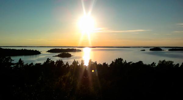 auringonlasku turun saaristo turku archipelago