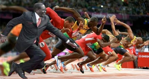 Mugabe trips during International Amateur Athletics Federation diamond league via geniushowto.blogspot.com #MugabeFalls memes