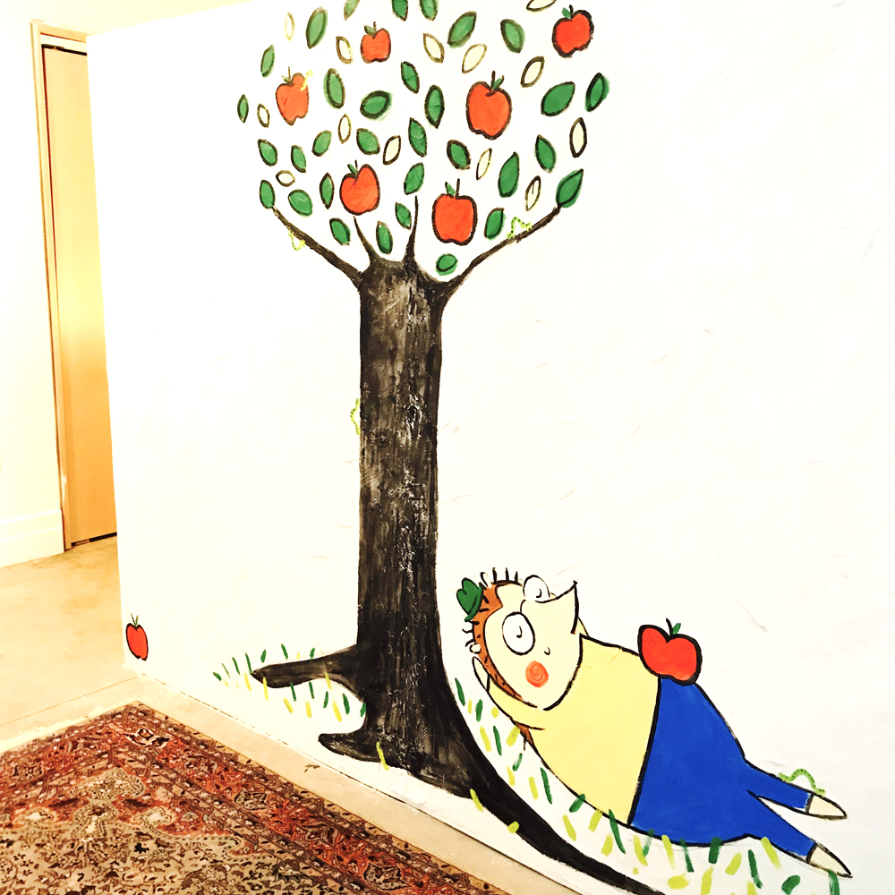 Linzer lane for Apple tree mural