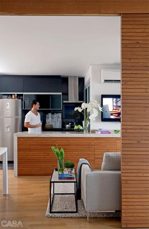 Pequeno apartamento decorado de 55m² parece muito maior. Blog Achados de Decoração