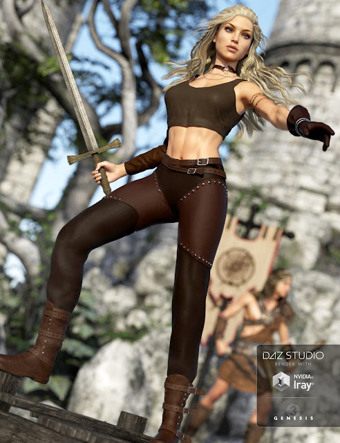 Adventure Girl Outfit for Genesis 3 Female