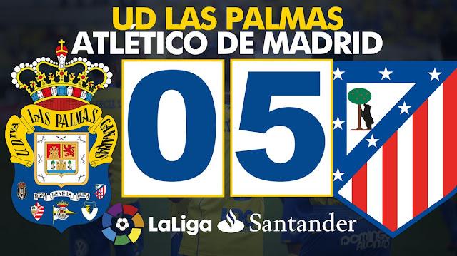 Marcador UD Las Palmas - At de Madrid