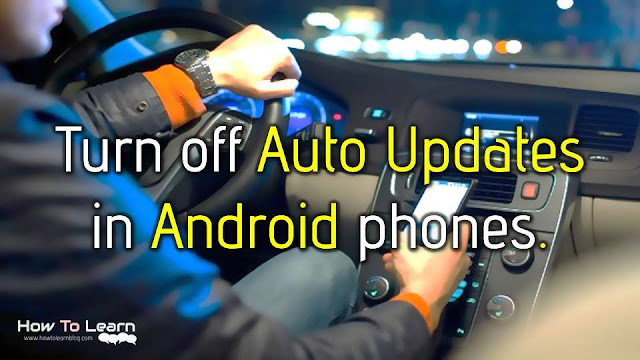How to turn off auto updates in Android phone? How to stop Android App Updates? Do not auto-update apps: Auto-update apps at anytime Data charges may apply: Auto-update apps over Wi-Fi only: