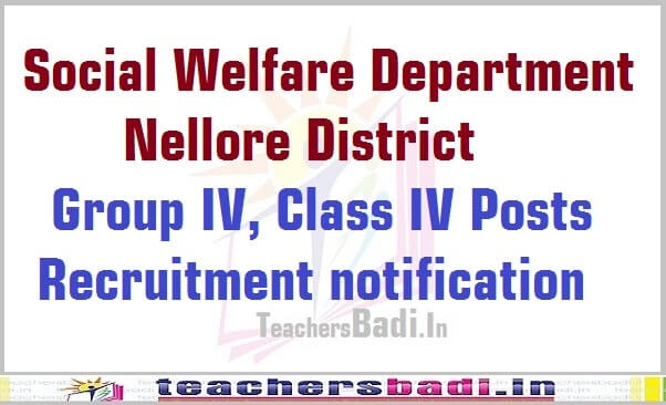 Group IV,Class IV Posts,Social Welfare Department,Nellore