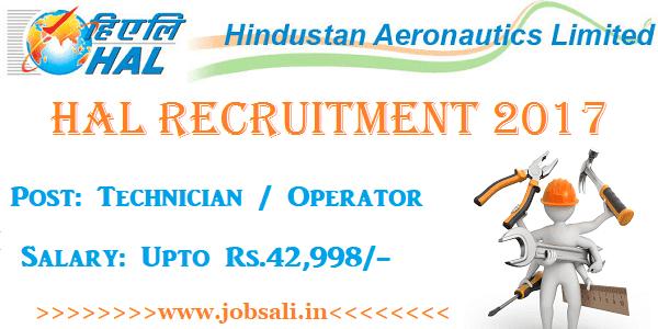 HAL Bangalore recruitment 2017, HAL Careers, HAL Diploma Jobs