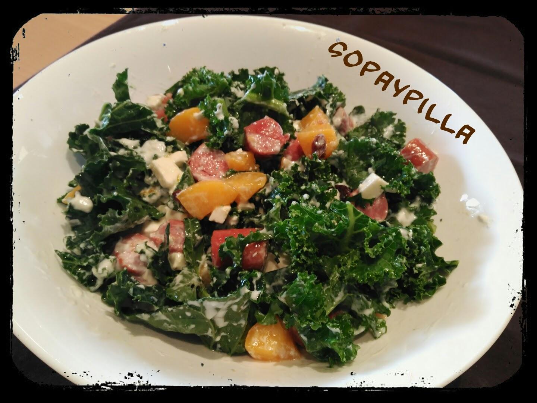 Sopaypilla ensalada de col kale for Cocinar kale sarten