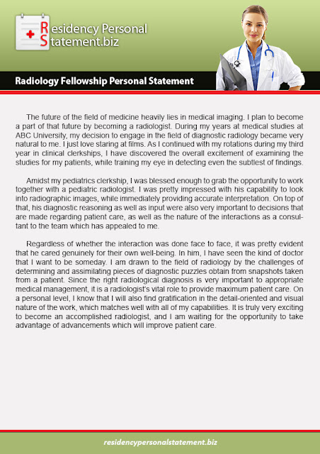 Residency Personal Statements Tips: Do You Need a Radiology