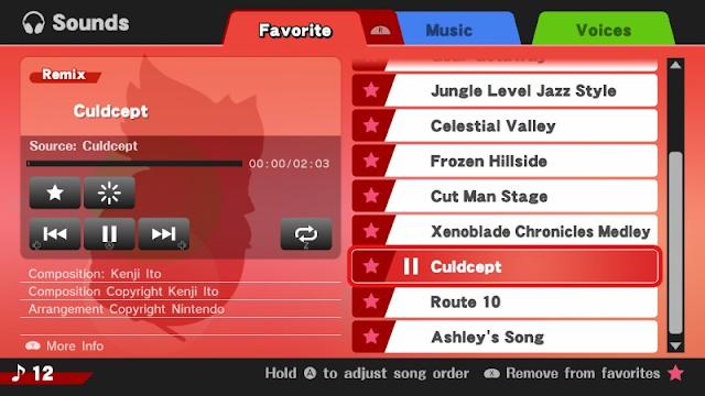 Culdcept soundtrack Super Smash Bros. For Wii U music remix song Kenji Ito Nintendo