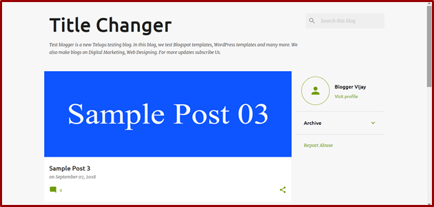 Lesson #6 | How to Change Themes in Blogger in Telugu 11