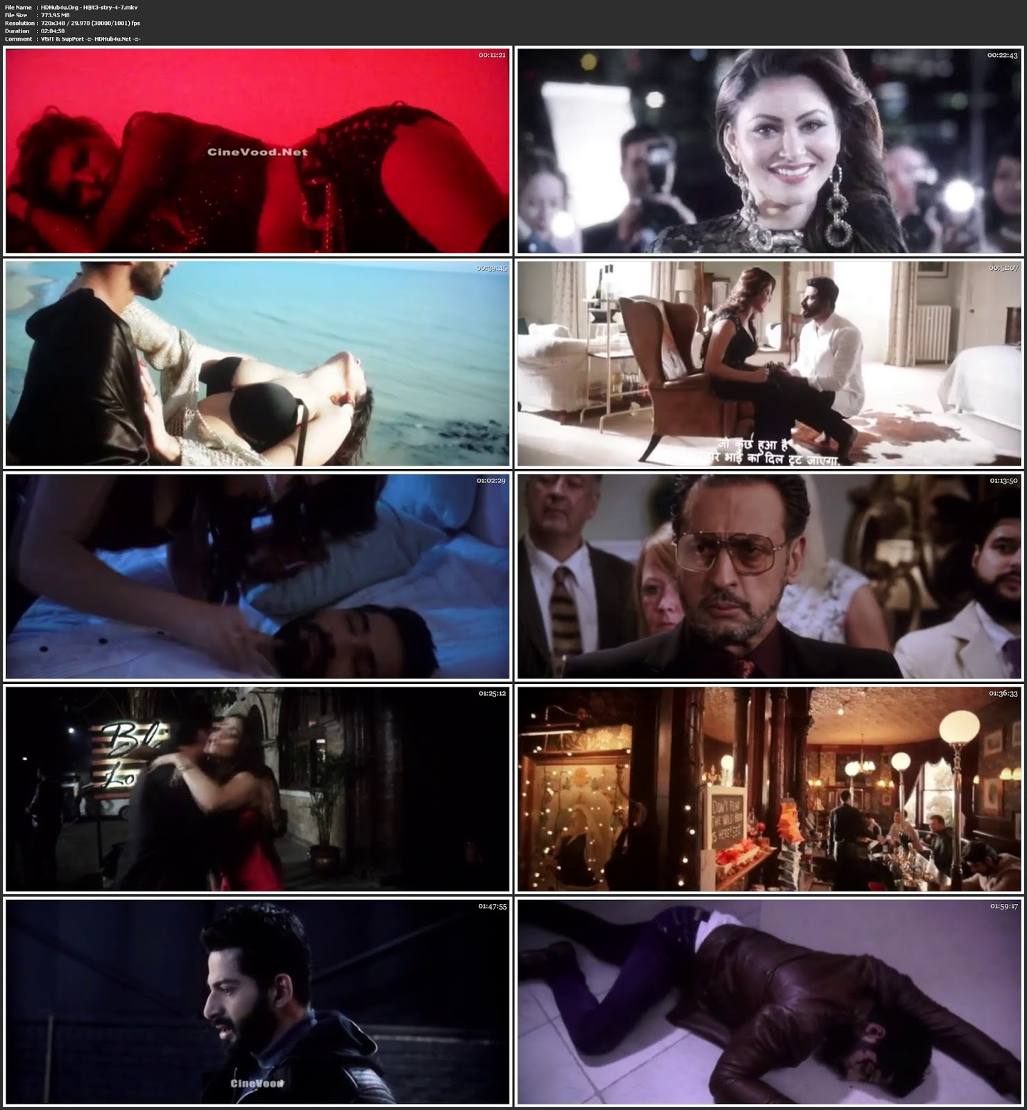 Hate Story 4 (2018) Hindi Movie Pre-DVDRip x264 350MB Download