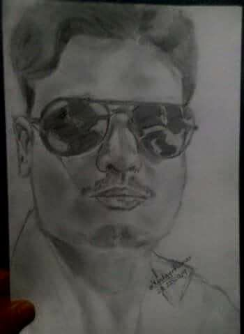Pencil drawing of binit kumar roy from bhagalpur bihar by akshay kumar