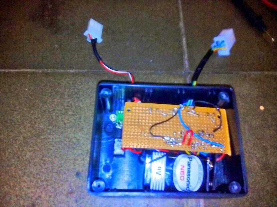 pemasangan baterai 9V
