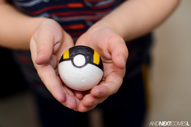 Homemade Pokeballs for kids from And Next Comes L