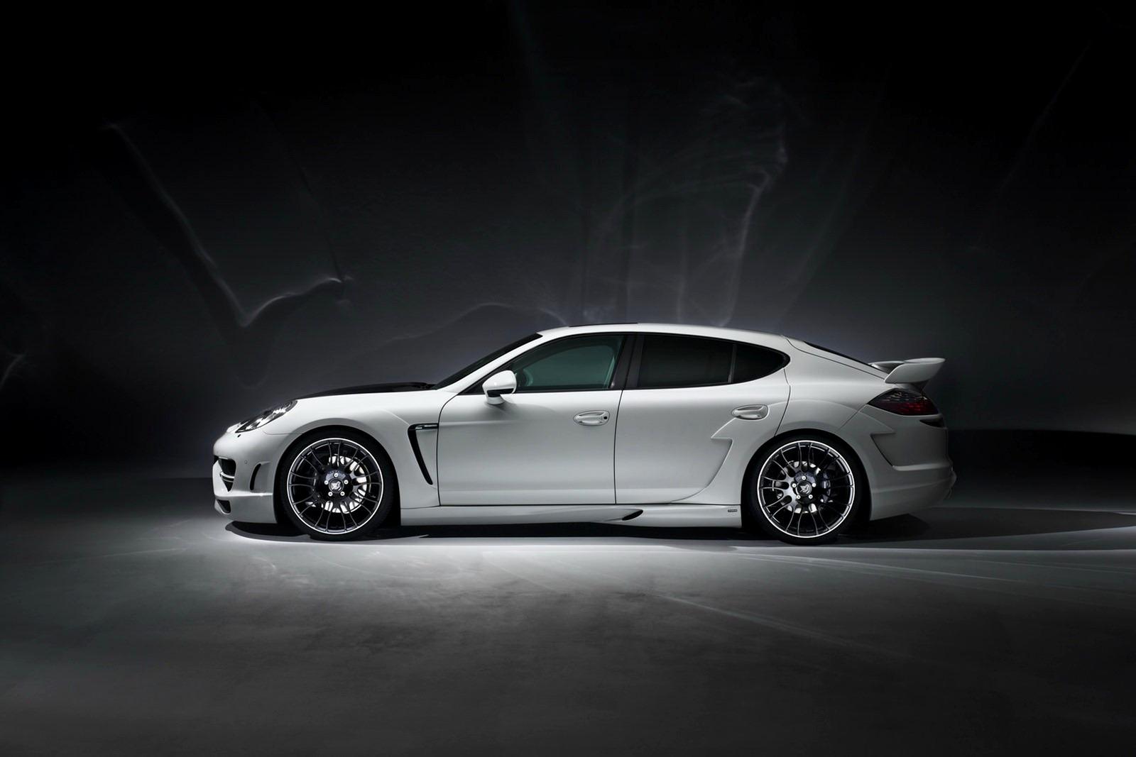 Custom Porsche Panamera Turbo S White Gator