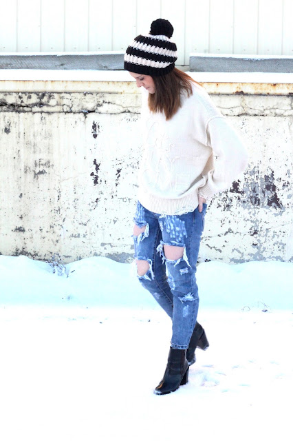 Wildfox sweater and one teaspoon jeans